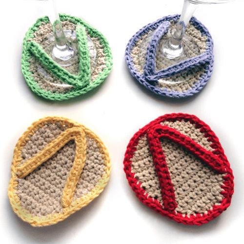 Crochet Flip Flop Coasters Pattern by Crochet Spot Patterns