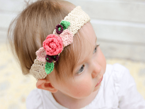 Crochet Flower Headband Pattern by Make And Do Crew
