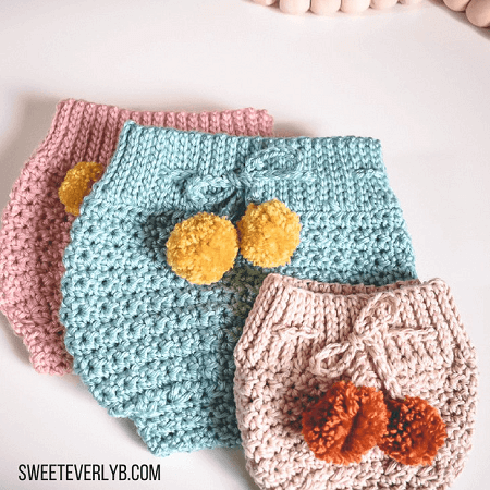 High Waisted Crochet Diaper Cover Pattern by Sweet Everly B