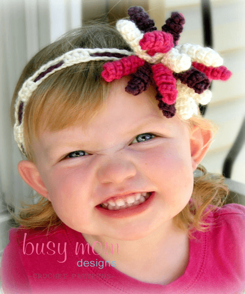 Crochet Korker Bow Headband Crochet Pattern by Busy Mom Designs