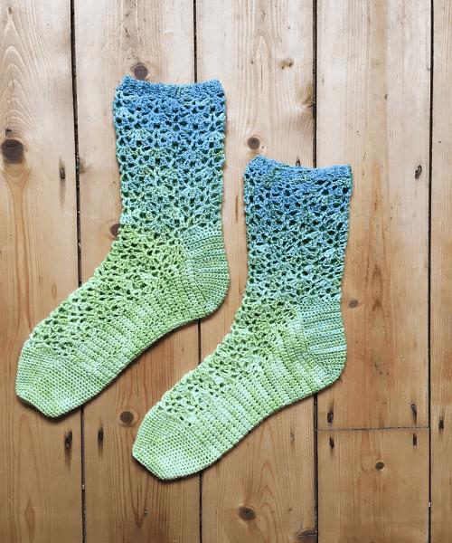 Crochet Lace Socks Pattern by Vicki Brown Designs