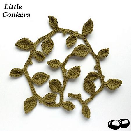 Crochet Leaf Garland Pattern by Little Conkers