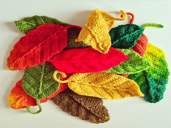 Crochet Leaf Pattern by Kates Corner Online