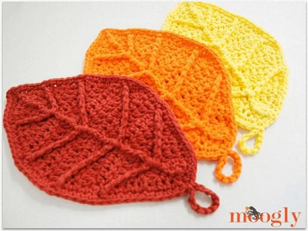 Crochet Leaf Pattern by Moogly