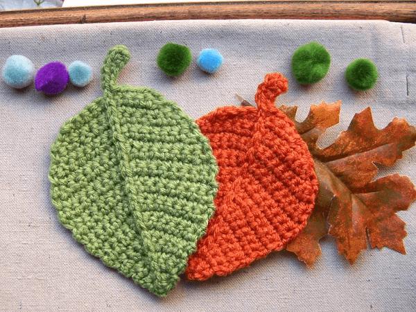 Crochet Leaf Pattern by Elenas Times