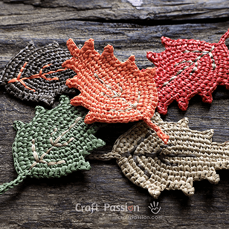 Crochet Leaf Pattern by Craft Passion
