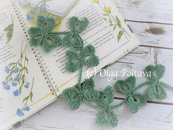 Crochet Leaves Vine Pattern by Olga Poltava