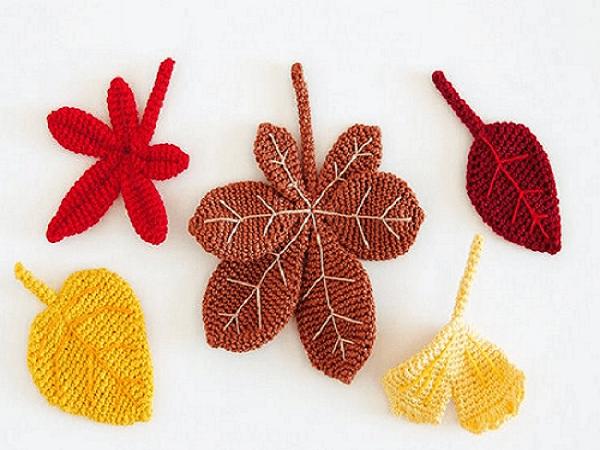 Irish Crochet Maple Leaf by Luba Davies Atelier