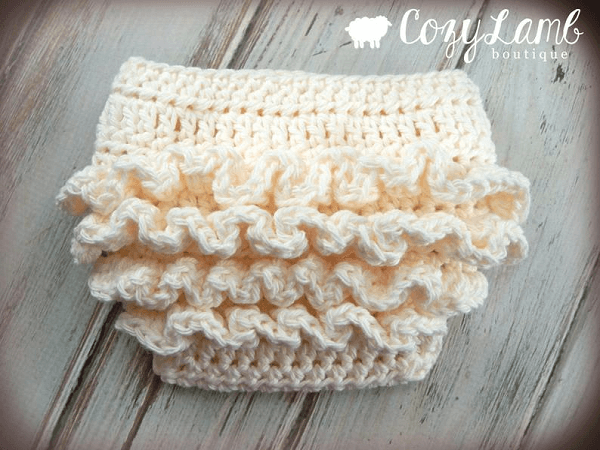 Crochet Pattern For Ruffle Bum Baby Diaper Cover by Crochet By Jennifer