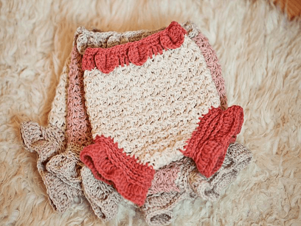 Crochet Petal Diaper Cover Pattern by Mon Petit Violon