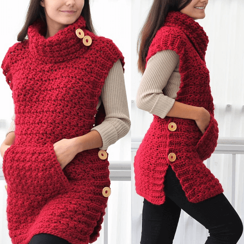 Crochet Poncho Pattern by The Easy Design