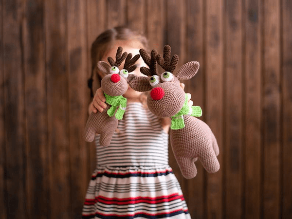 Crochet Pattern Rudolf The Reindeer by Mommy Patterns