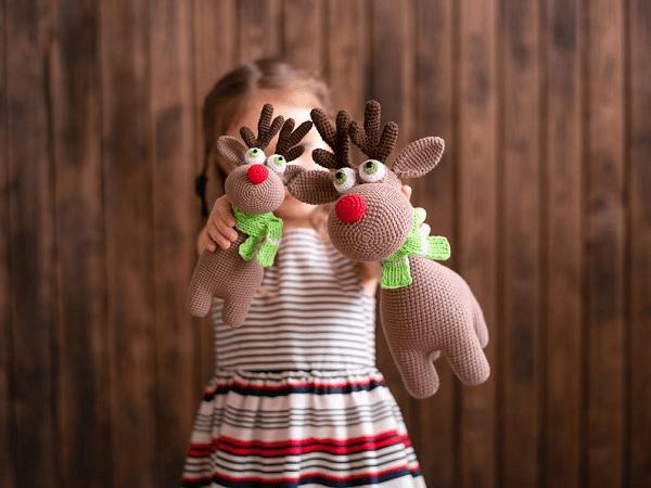 Crochet Pattern Rudolf The Reindeer by Mommy Patterns
