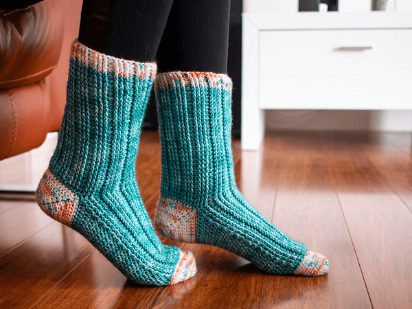 Crochet Segue Socks Pattern by Addydae Designs