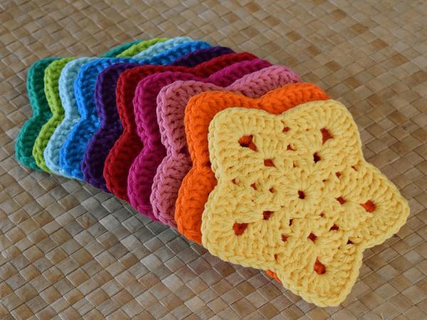 Crochet Star Coaster Pattern by Island Style Crochet