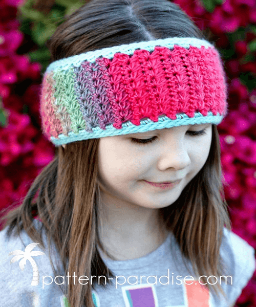 Crochet Star Stitch Headband Pattern by The Pattern Paradise