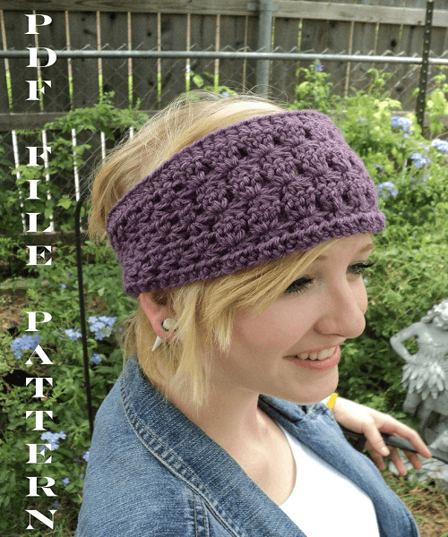 Crochet Star Stitch Headband Pattern by Life In Small Spaces
