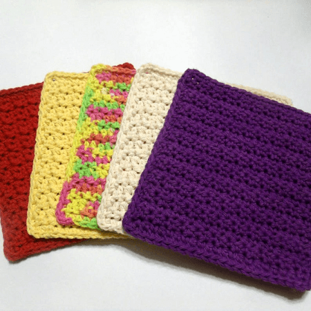 Crochet Textured Dishcloth Pattern by HCK Crafts