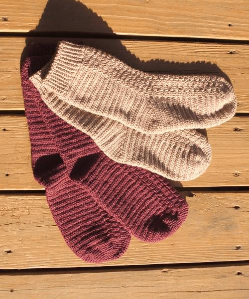 Crochet Top Down Socks Pattern by Cobbler's Cabin