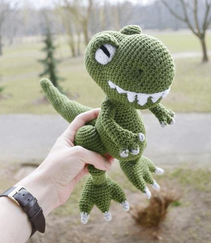 Crochet T-rex Dinosaur Pattern by Amigurumi Joys