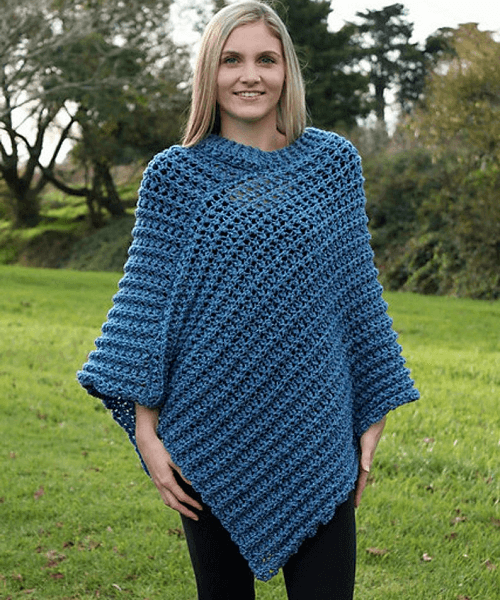 Crochet Tweed Poncho Pattern by Holland Designs