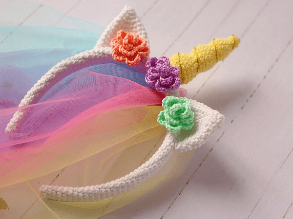 Crochet Unicorn Headband Pattern by Lovely Toys Pattern