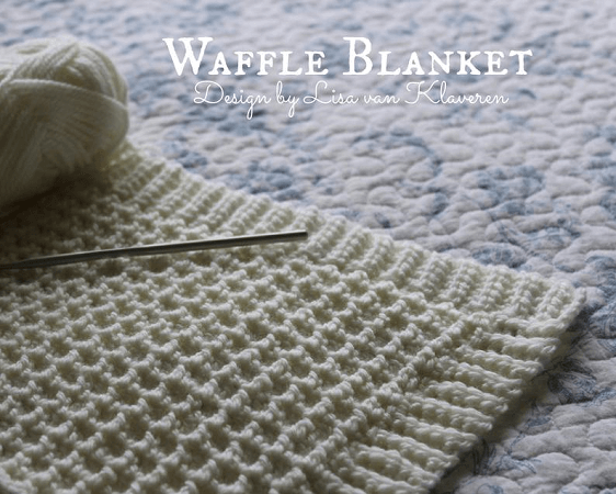 Crochet Waffle Stitch Blanket Pattern by Holland Designs