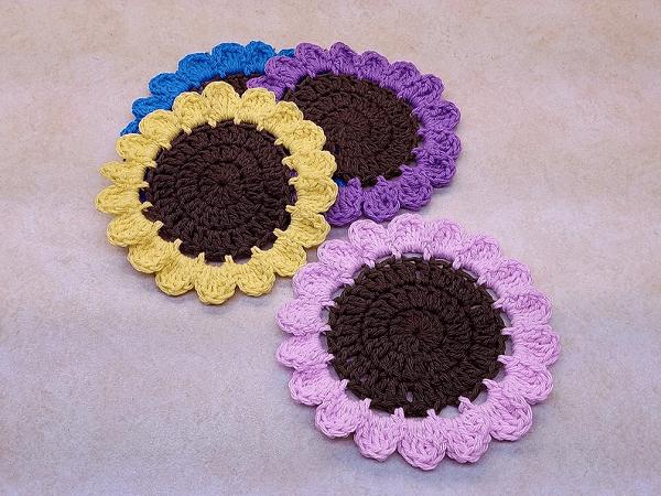 Crochet Wildflowers Coaster Pattern by Bago Day Crochet