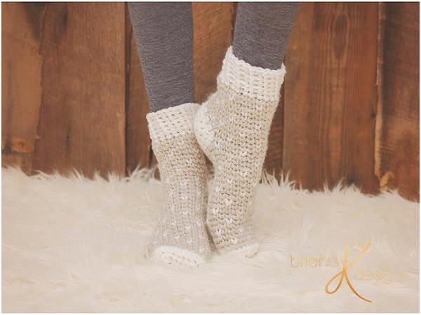 Crochet Winter Socks Pattern by Briana K Designs