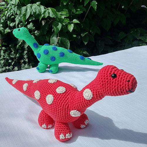 Dinosaur Diplodocus Crochet Pattern by Little Green Bear Gifts