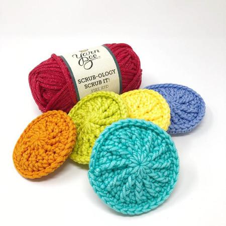 dish kitchen bathroom pan crochet scrub scrubber