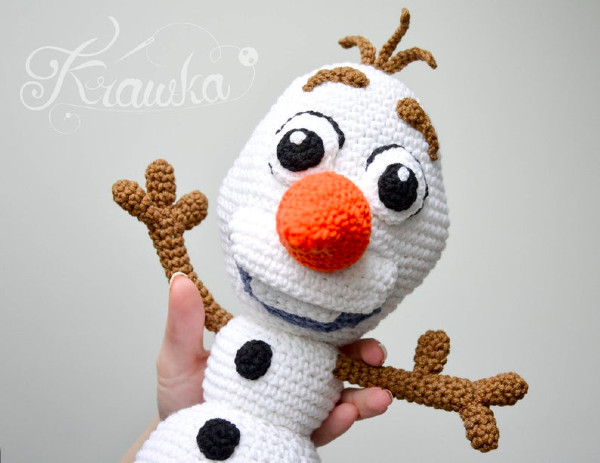 disney olaf toy crochet pattern