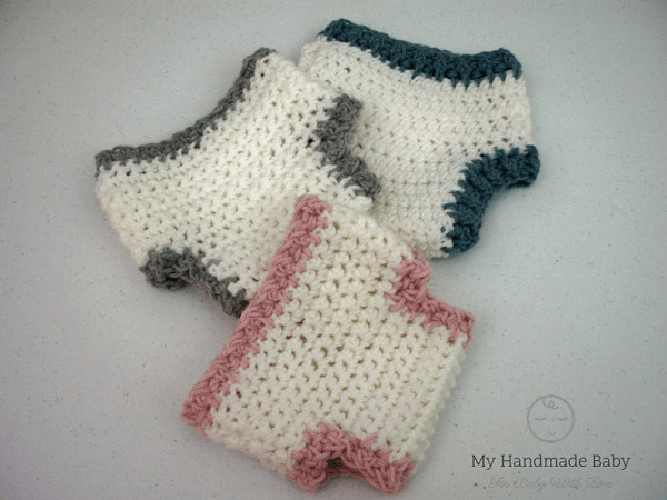 Baby Diaper Cover Crochet Pattern by My Handmade Baby Co