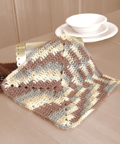 Easy Ombre Dishcloth Crochet Pattern by Lily Sugar n' Cream
