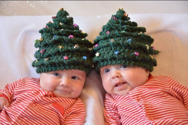 Crochet Christmas tree hat pattern babies