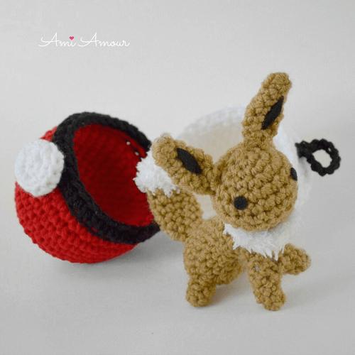 Eevee Amigurumi Crochet Pattern by Ami Amour
