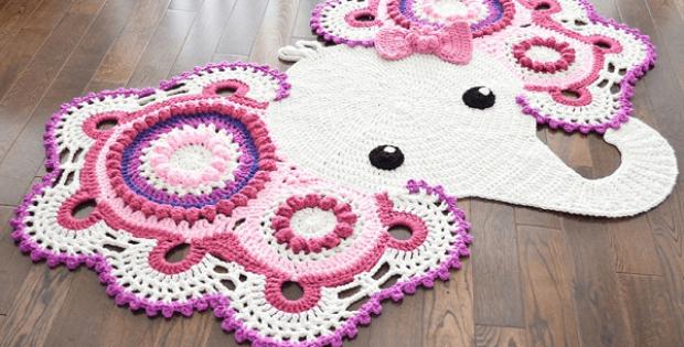 Elephant Rug Crochet Pattern by Irarott Patterns