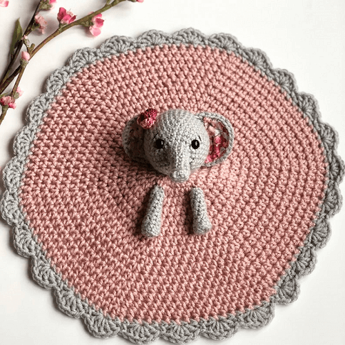 Ellie The Elephant Lovey Crochet Pattern by A Purpose And A Stitch