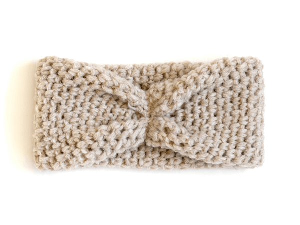 Faux Bow Easy Crochet Headband Pattern by Mama In A Stitch