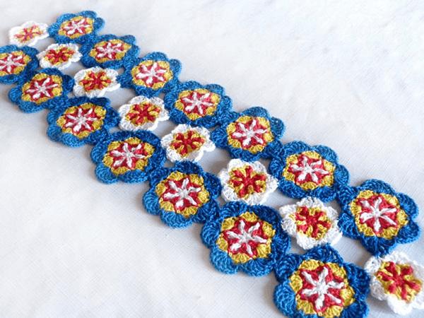 Floral Table Runner Crochet Pattern by Crochet Spot Patterns