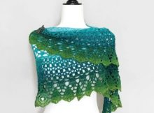 free crochet sea shawl pattern