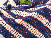 free pattern blanket reverse single stitch