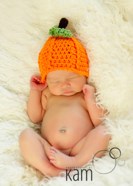halloween pumpkin for adults and  babies crochet hat costume pattern