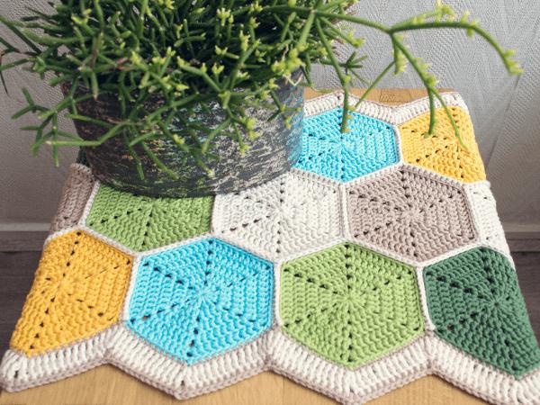 Hexagon Table Runner Crochet Pattern by Wink
