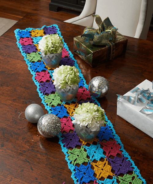 Holiday Party Crochet Table Runner Pattern by Katherine Eng