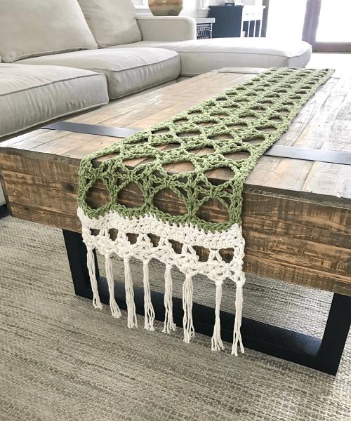 Honey Locust Table Runner Crochet Pattern by Christina Ann Studios