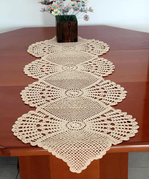 Lace Table Runner Crochet Pattern by Etty 2504