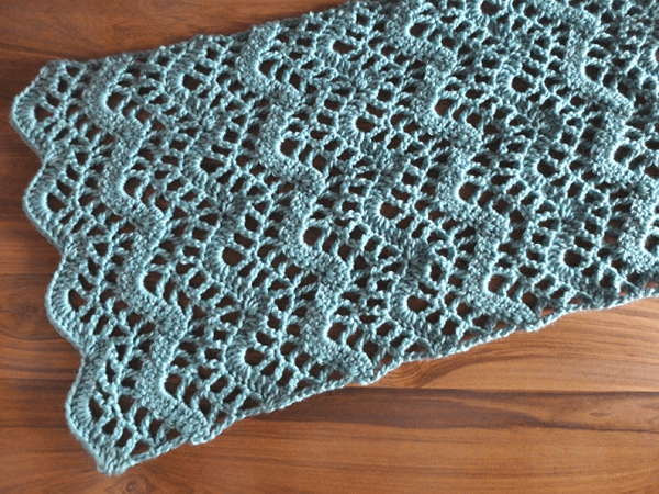Lacy Chevron Table Runner Pattern by Crochet Spot Patterns