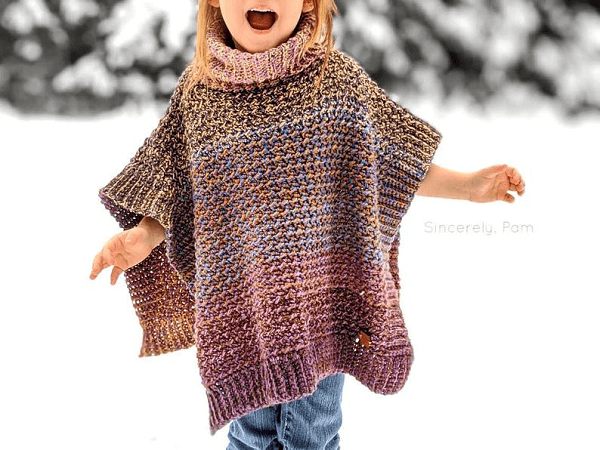 Lucky Penny Poncho Crochet Pattern by By Sincerely Pam