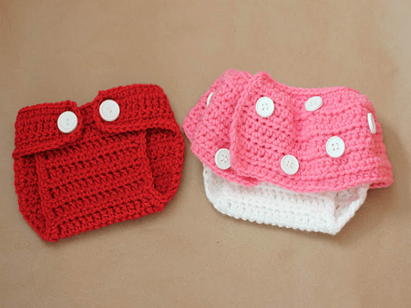 Mickey And Minnie Inspired Crochet Diaper Covers Pattern by Repeat Crafter Me